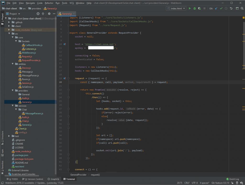 General provider code screenshot