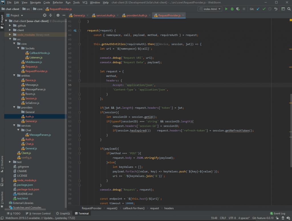 Auth Provider code screenshot